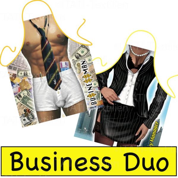 Schürzen Kombination Business Duo Geschäftspartner