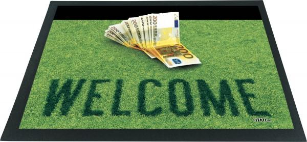 Fußmatte 3D - Geldscheine Welcome