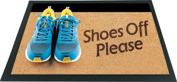 Fussmatte 3D Schuhe aus bitte Shoes off please