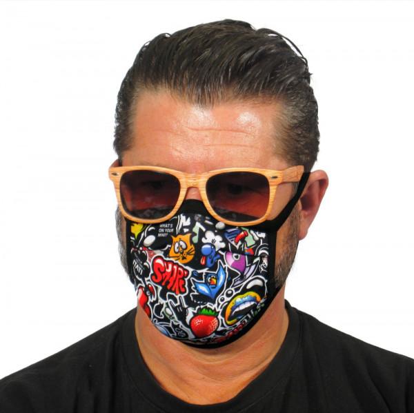 Gesichtsmaske Graffiti