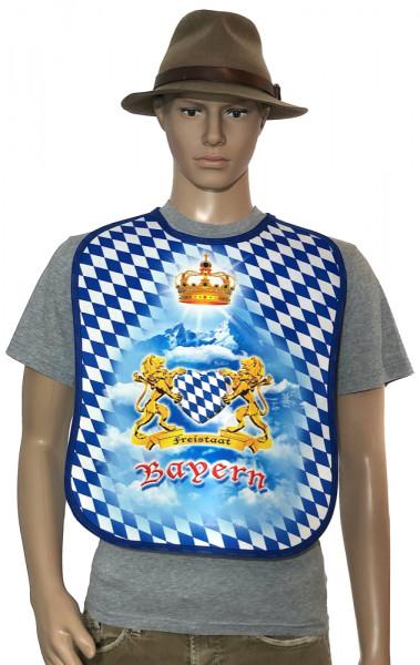 Großes Lätzchen für Erwachsene Freistaat Bayern Blau Weiß - itati-shop.de