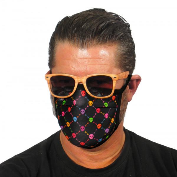 Gesichtsmaske Bunte Totenköpfe