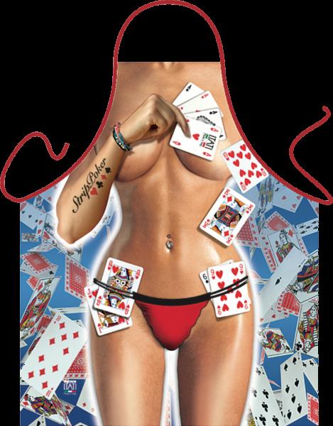 Strip Poker Girl Schürze ITATI-Textilien (GR-34545) www.itati-shop.de