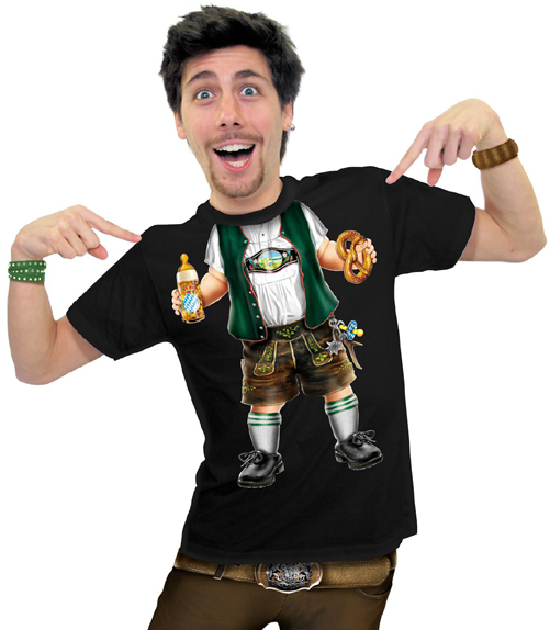 Herren T-Shirt - Baby Bayer schwarzes T-Shirt