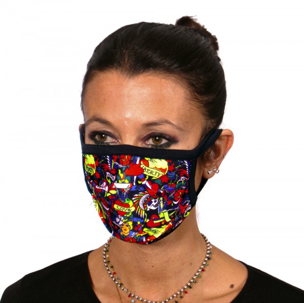 Gesichtsmaske Tattoo