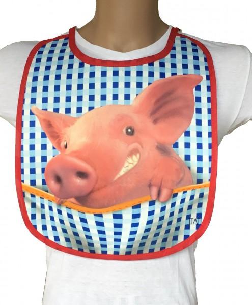 Lustiges Lätzchen für Erwachsene - Schweinchen (BA-20099)