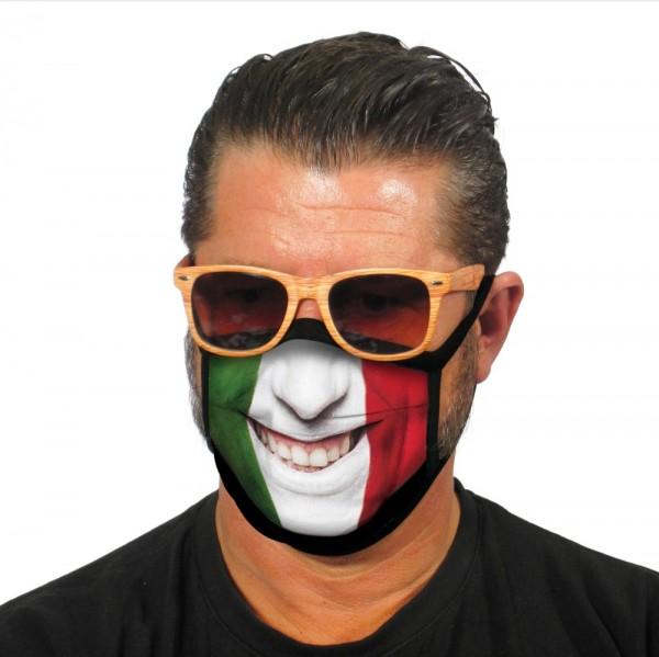 Gesichtsmaske Stoffmaske Lächelnder Italiener