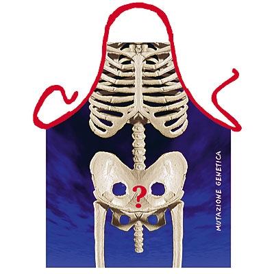 Schürze - Sexy Skelett