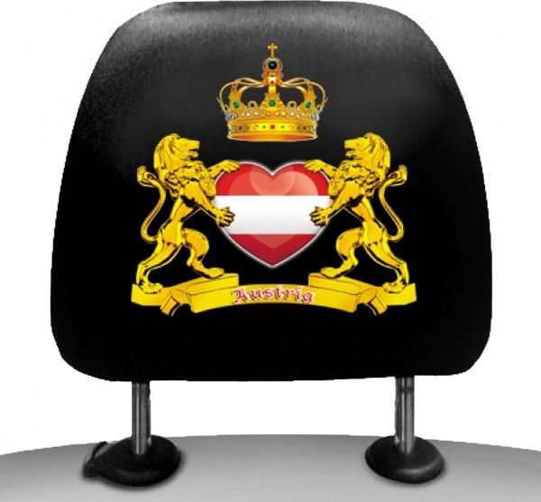 Kopfstützenbezüge - Österreich mit Herz (2er Pack)