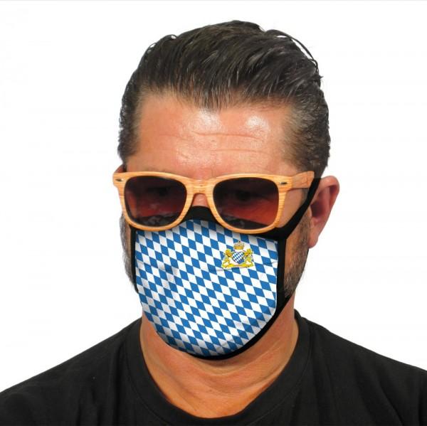Maske Bayern mit Herz