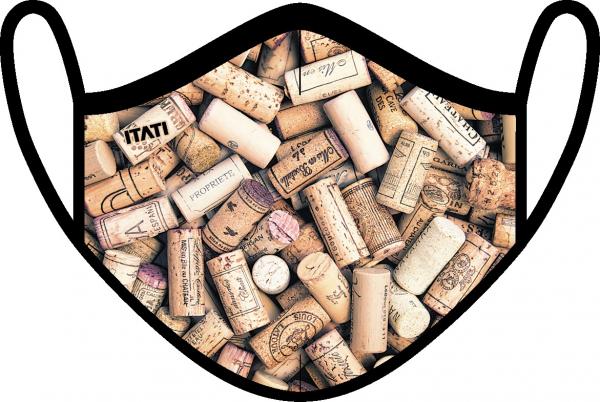 AIR Maske zertifiziert mit Weinkorken Aufdruck