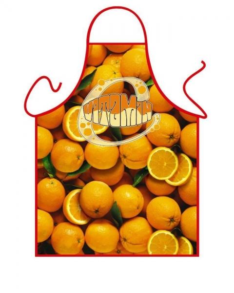 Schürze - Orangen