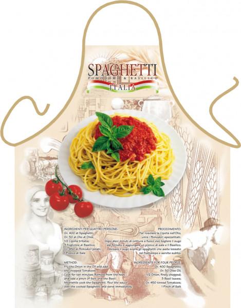Spaghetti Nudeln Schürze Italia mit Rezept