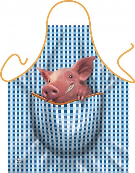 Schweinchen Schürze ITATI-Textilien (GR-22844) www.itati-shop.de