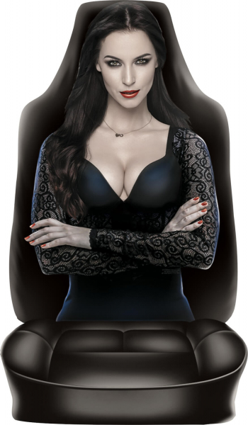 Sitzbezug Dark Lady Rückenlehnenüberzug Hübsche Frau