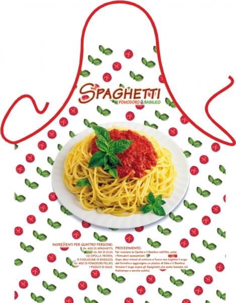 Schürze - Spaghetti Basilikum