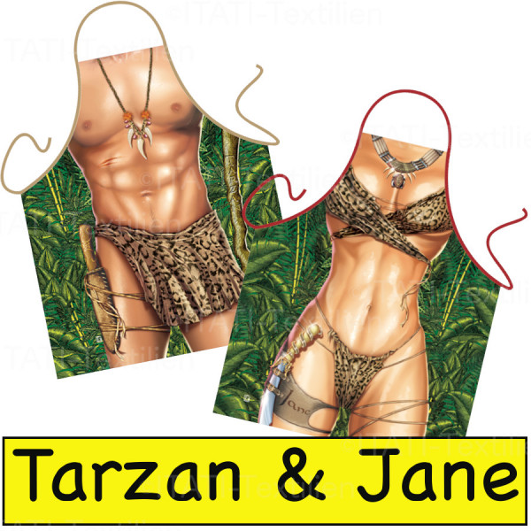 Schürzen Kombination Tarzan und Jane ITATI-Textilien