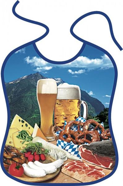 Lätzchen für Erwachsene Brotzeit Bier