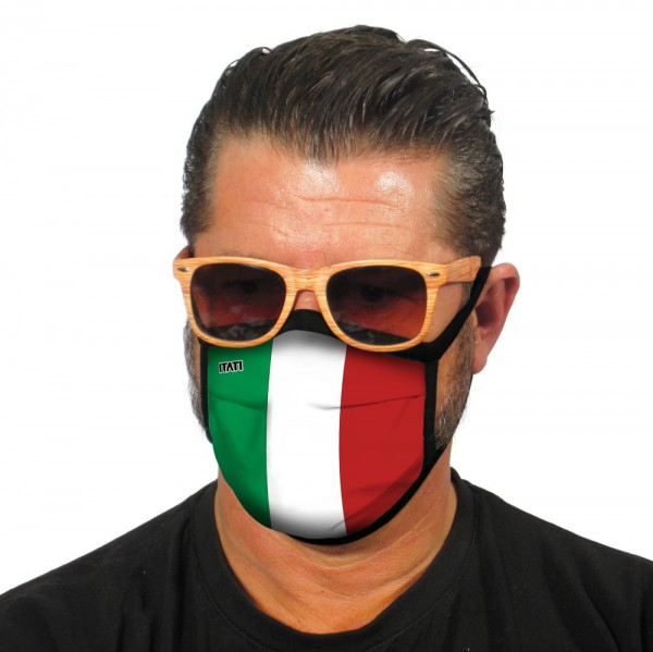 Gesichtsmaske Stoffmaske Italienische Flagge