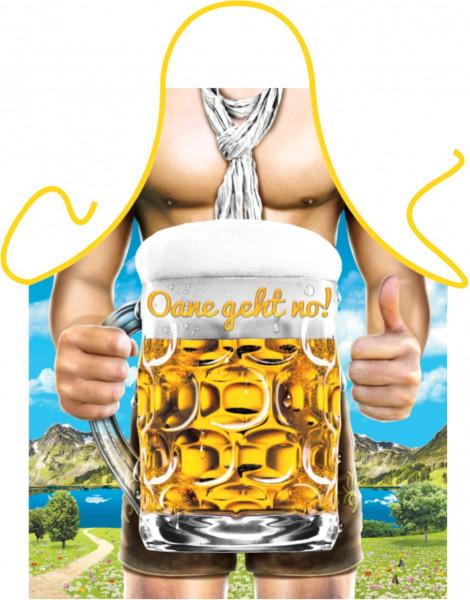 Schürze OANE GEHT NO großes Bier