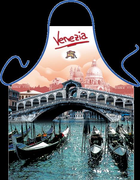 Venedig Rialto Brücke Schürze ITATI-Textilien (GR-23971) www.itati-shop.de
