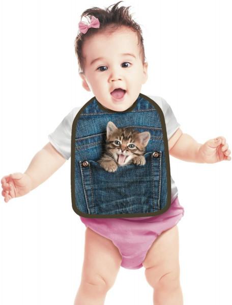 Lätzchen Baby mit Kätzchen ITATI-Textilien
