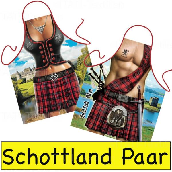 Schürzen Kombination Schottland Highlander