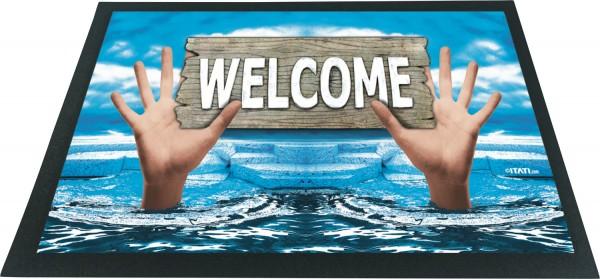 Fussmatte 3D Welcome Hände