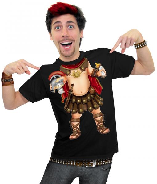 Herren T-Shirt - Baby-Gladiator schwarzes T-Shirt