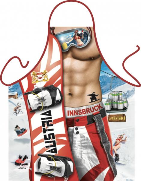 Schürze Apres-Ski Snowboard Mann Österreich Innsbruck