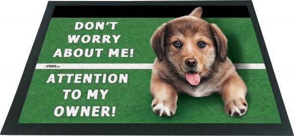 Fussmatte 3D Hund