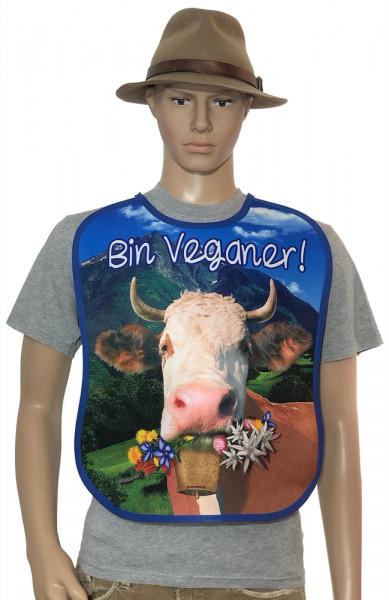 Sabberlatz für Erwachsene Alpenkuh Bin Veganer - itati-shop.de