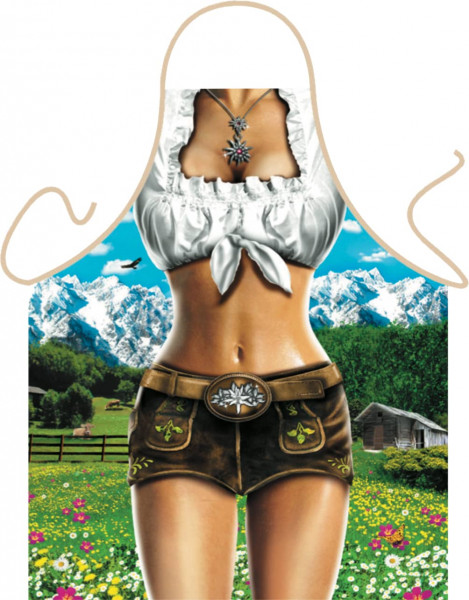 Schürze Alpenmodel Sie