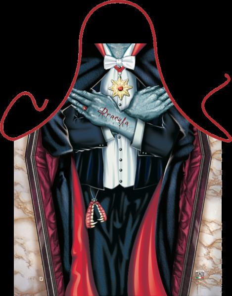 Dracula Vampir Schürze ITATI-Textilien (GR-28107) www.itati-shop.de