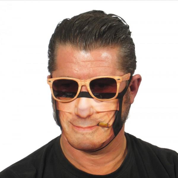 Stoffmaske Gesichtsmaske Zigarrenraucher