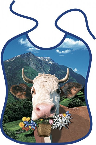 Lätzchen für Erwachsene Alpenkuh