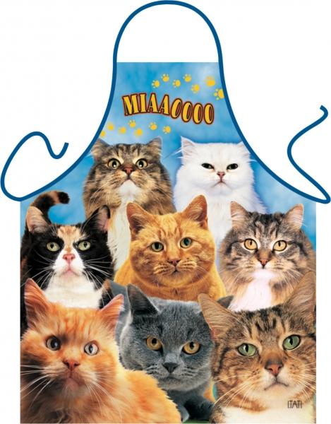 Katzen Schürze ITATI-Textilien (GR-20706) www.itati-shop.de