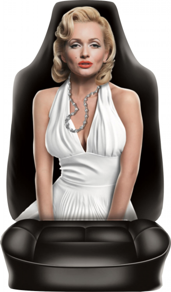 Autositzbezug Wohnmobilsitzbezug Frau bedruckt Motiv Mary