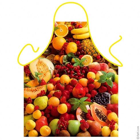 Schürze - Früchte