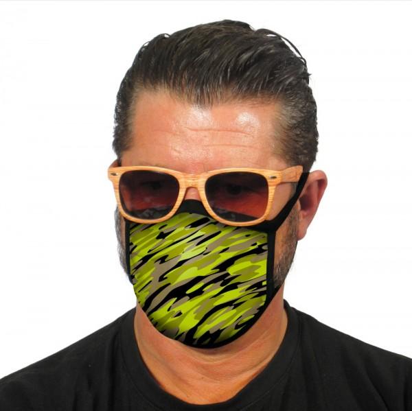 Gesichtsmaske Atemmaske Camouflage Grün - itati-shop.de
