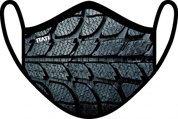 AIR Maske zertifiziert mit Reifenprofil Aufdruck