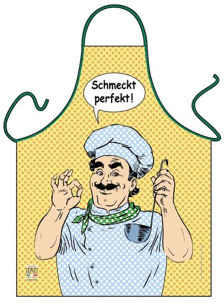 Kochschürze Comic Schmeckt perfekt ITATI-Textilien