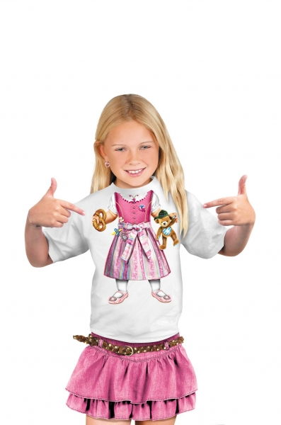Kinder T-Shirt - Baby-Dirndl weiss