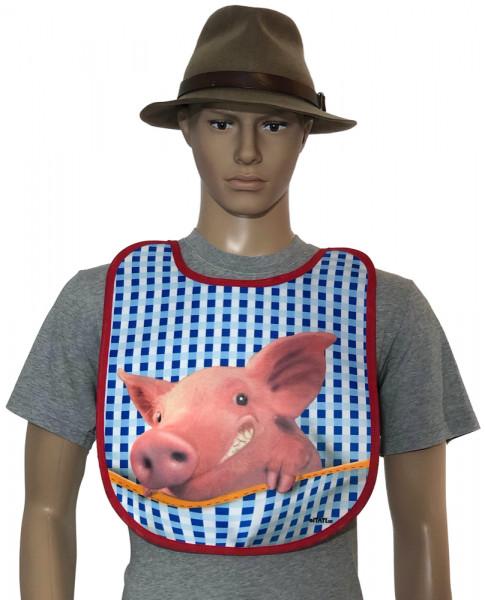 Lustiges Lätzchen für Erwachsene - Schweinchen (BA-20099) - itati-textilien