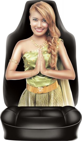 Auto Sitzbezug Frau Thai Girl auch für Camper und Reisemobil
