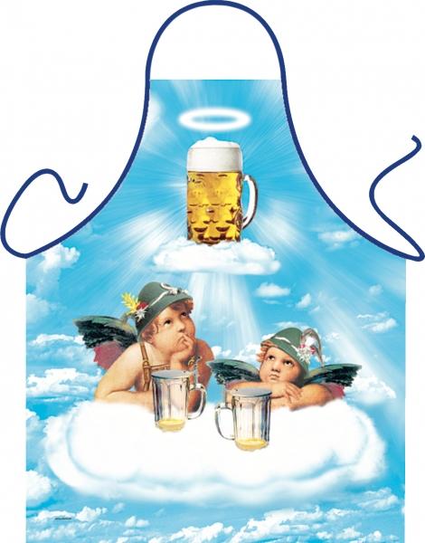 Schürze - Durstige Engel im Bierhimmel