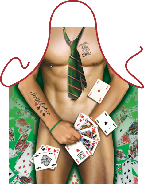 Strip Poker Man Schürze ITATI-Textilien (GR-34608) www.itati-shop.de