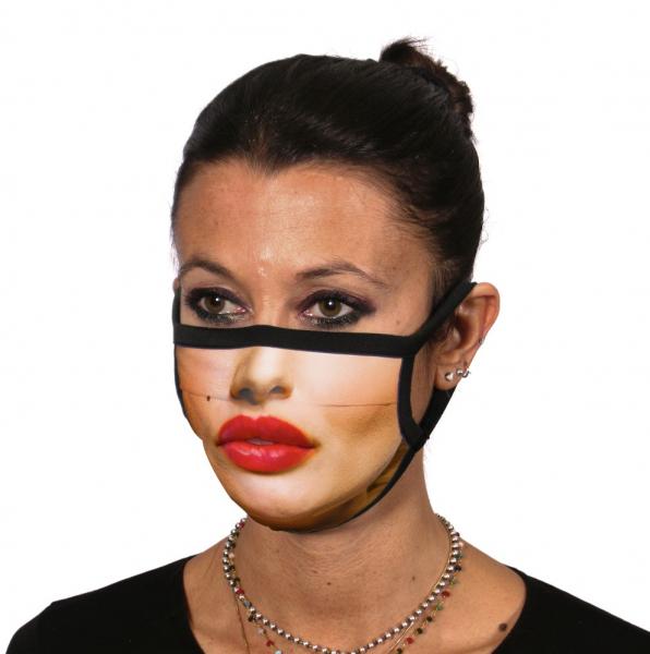 Mund- und Nasenmaske mit Kussmund von ITATI