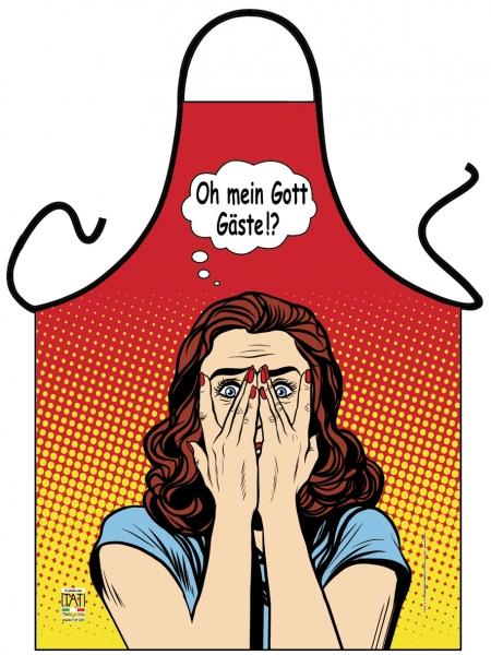 Schürze - Pop Art - Oh mein Gott Gäste