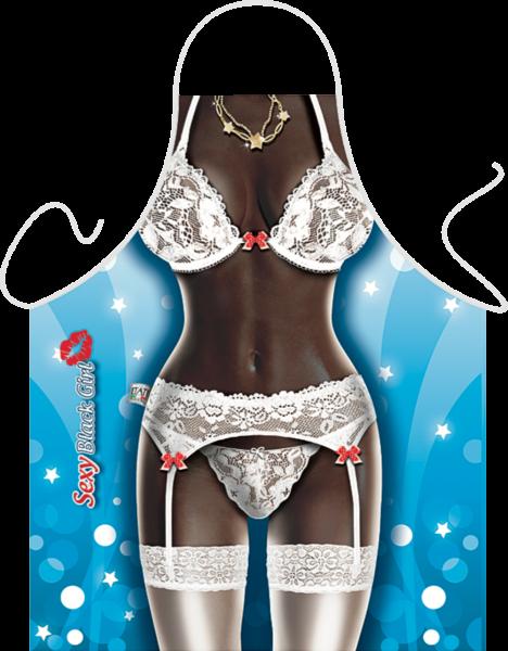 Sexy Black Girl Küchenschürze ITATI-Textilien (GR-35748) www.itati-shop.de